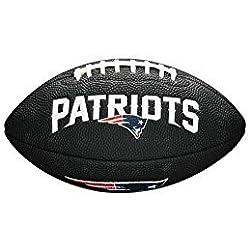 Wilson, Ballon de Football américain, Mini NFL Team Soft Touch, New England Patriots, Pour les joueurs amateurs, Noir, WTF1533BLXBNE