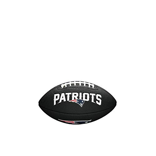 Wilson - Mini ballon de Football Américain Wilson Soft touch NFL team logo New England Patriots Noir