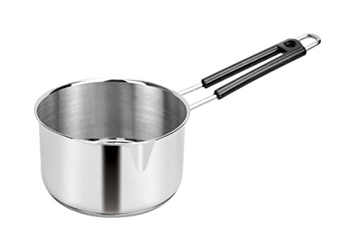 HATIMI'S Branded Stainless Steel Sauce PAN for Tea, Coffee- Suitable for Gas Stove, Induction Cook TOP, Electric & Ceramic Plate - 1 LTR, DIA-14CM