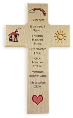 """Taufkreuz Kinderkreuz """"Leben und Liebe"""" große Ausfertigung"""