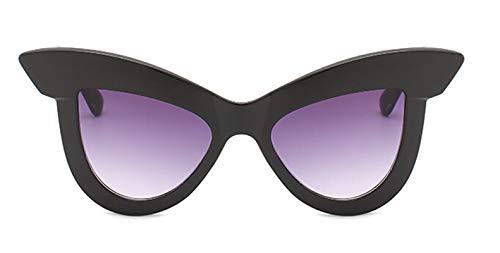 AmDxD Damen Polarisiert Sonnenbrille | Linse aus PC | Katzenauge Vollrand Retro Brille UV400 Schutz | Für Outdoor-Aktivitäten, Farradfahren - Schwarz B