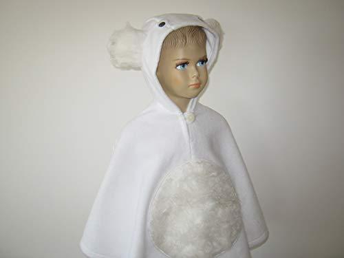 lloween kostüm cape für kleinkinder eisbär ()
