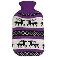 Wärmflasche -Wärmflasche mit Flauschbezug Elchmotiv Farbe Lila preisvergleich bei billige-tabletten.eu