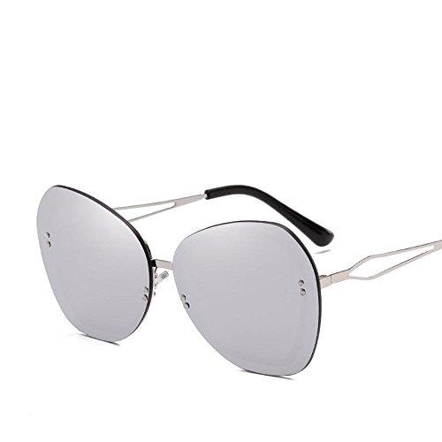 Luziang Europa und die Vereinigten Staaten Flut Sonnenbrille Marke Keine Frame-Reis-Nagel Dekoration Lady Sonnenbrille Big Box Trend Sonnenbrillen,Fahren, Reisen, Outdoor-Sport