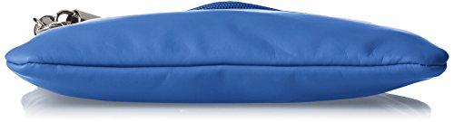 Boscha Damen Clutch, 1x17x24 cm Blau (Blau (Blueberry))