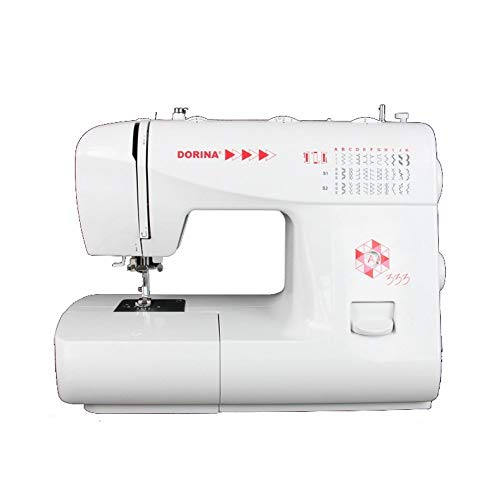 Gritzner Dorina 333 brazo libre - Máquina de coser con 33 puntadas, enhebrador, el ancho y el largo de puntada es ajustable completamente