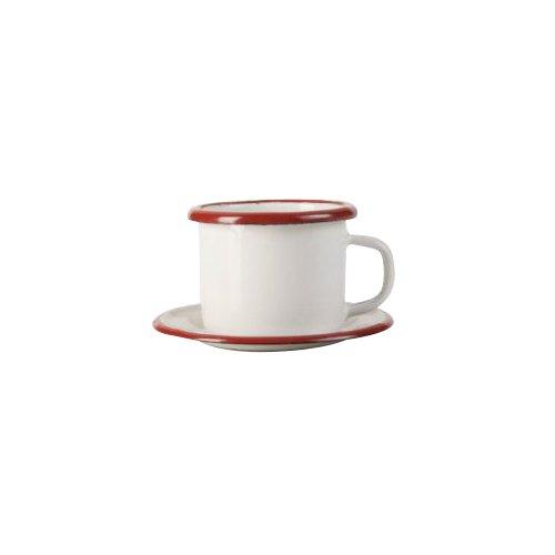 IBILI 908405 Gobelet avec Assiette, INOX, Blanc/Rouge, 5 cm