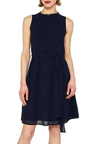 ESPRIT Collection Damen 059EO1E018 Kleid, Blau (Navy 400), (Herstellergröße: 36) -