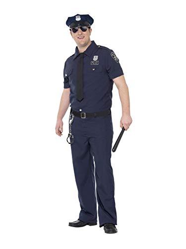 Smiffys 24341L - Herren NYC Polizist Kostüm, Größe: L, blau