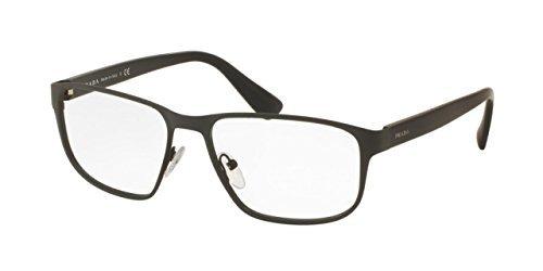 Prada PR56SV Eyeglass Frames TKM1O1-55 - Matte Grey PR56SV-TKM1O1-55