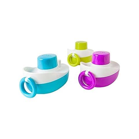 BOON TONES Musikalische Boote für die Badewanne | Wasserspielzeug mit Musik für Kinder ab 12 Monate | Spielzeug für die Badewanne | Lernspielzeug | Hochwertiges Spielzeug - ideal als Geschenk