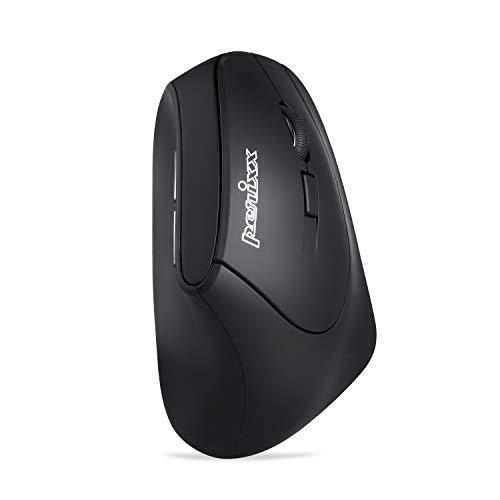 Perixx PERIMICE-804 Ergonomische Bluetooth Maus für Windows, Android Tablet und PC - Rechtshänder - Schwarz