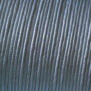 Kumihimo Coton ciré Cordon 2 mm x 6 m, Gris