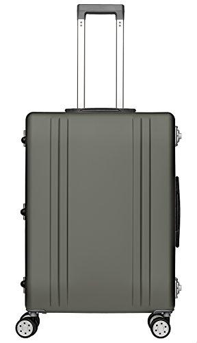 Packenger Valise de voyage alu de 68 L de contenance, couleur champagne, 61x46x25 cm, deux cadenas TSA