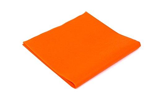 Tovaglie tnt formato cm. 100x100 confezione da 25 tovaglie in tessuto non tessuto colore arancione ideali per ristoranti pizzerie alberghi trattorie osterie cene aziendali buffet e congressi
