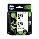 #7: HP 678 2-pack Black & Tri-color Ink Advantage Cartridges (L0S24AA)