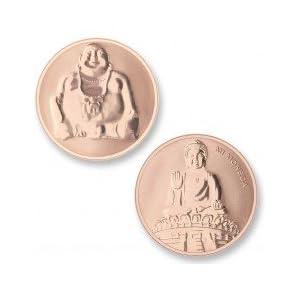 Meine Währung Münze Buddha & Buddha Rosegold Plated mon-bud-03-l