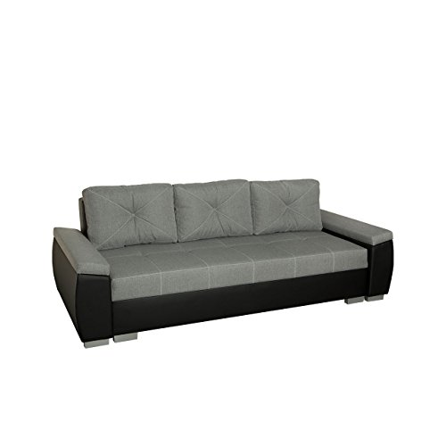 Mirjan24  Schlafsofa Sonia, Sofa mit Bettkasten und Schlaffunktion, Komfortsofa, Schlafcouch, freistehendes Bettsofa, Couchgarnitur (Cayenne 1114 + Inari 91)