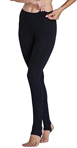 KomPrexx Sport Leggings Damen Mesh Fitness Yoga Training Gym Tights Lang Trainings Workout Sporttights 14K.Schwarz