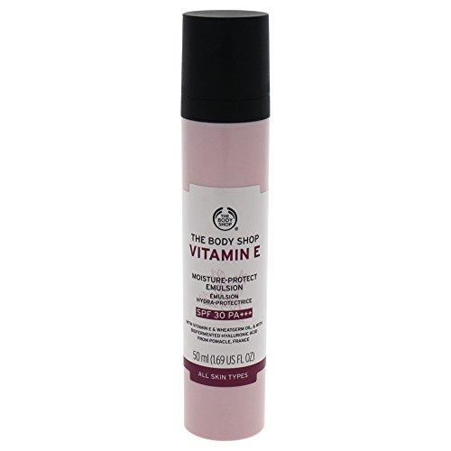 Body Shop Vitamin E Feuchtigkeitsschutz Emulsion, 50 ml, LSF 30