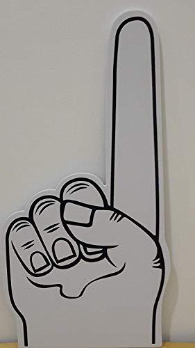 Palm gedruckt giant EVA-Schaum hand-handschuh spitz finger - Weiß, 45cm