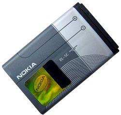 batteria di ricambio originale nokia bl-5c, per nokia 1100 / 1101 / 1110 / 1110i / 1112 / 1600 / 2300 / 2310 / 2600 / 2610 / 2626 / 3100 / 3120 / 3650 / 3660 / 6030 / 6085 / 6086 / 6230 / 6230i / 6270 / 6600 / 6630 / 6670 / 6680 / 6681 / 6820 / 6822 / 7600 / 7610 / e50 / e60 / n70 / n71 / n72 / n91 / n-gage