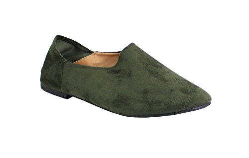 By Shoes Scarpe Basse Donna Verde