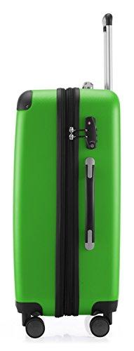 HAUPTSTADTKOFFER - Spree - 2er Koffer-Set Hartschale matt, TSA, 65 cm, 82 Liter, Dunkelblau Gelb/Apfelgrün