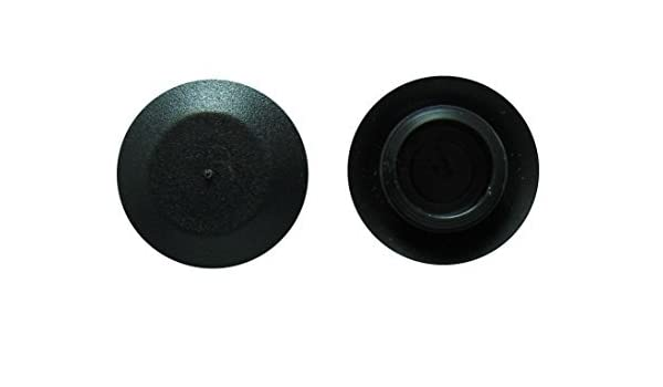 """10Pack 1//2/"""" 0.5 Inch Flush Mount Black Plastic Body and Sheet Metal Hole Plugs"""