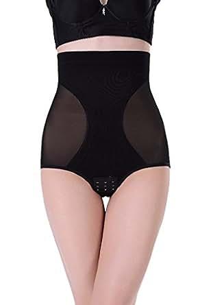 Bigood 1*Miederbody Damen Miederpants Body Bodyshaper Hoch Tailleohne Blüte Dreieck Elfenbein XXXL