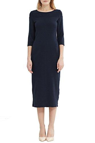 ESPRIT Damen Kleid 027ee1e016 Mehrfarbig (Navy 400)