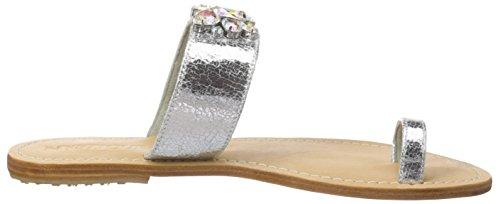 Mystique Damen 6307 ss16 Offen Sandalen Silber (natural Sole silver-AB)