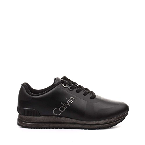 Calvin Klein Edwin Rub Smooth/HF, Sneaker Uomo Nero