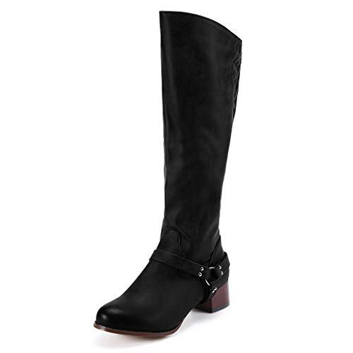 Bottes de Neige,Subfamily Bottes De Femme Cuir Synthétique Stiletto Talons Haut Sexy Boots Automne Hiver Mode Chaussures Bottes Longues Bottes de Chevalier Chaussures Boot Vintage
