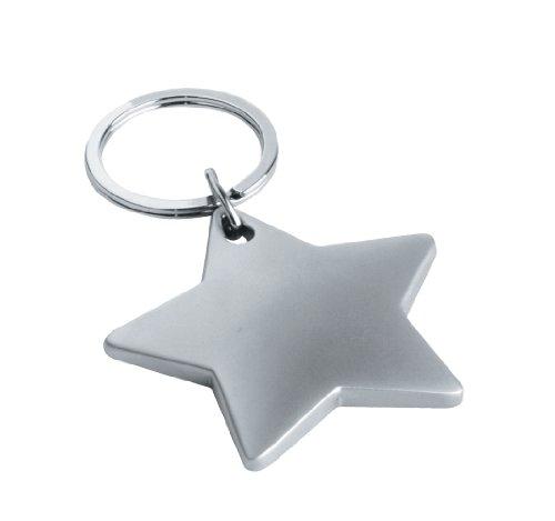 eBuyGB Star Form Schlüssel Ring-Stocking Filler Schule Lehrer Geschenk, Metall, matt, 11.4x 5,41x 1,8cm