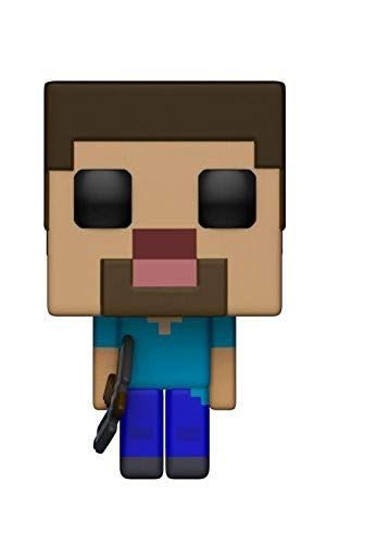 Funko 26383 S1 Pop Vinylfigur Games Minecraft Steve, Multi