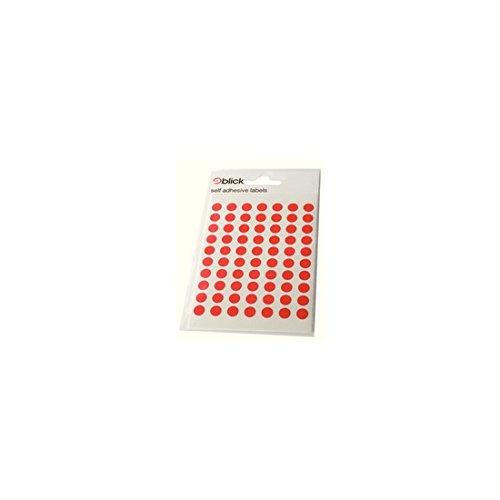 BLICK LABEL BAG 8MM RED PK490 003250
