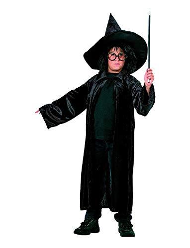 Luxuspiraten - Jungen Kinder Kostüm, samtiger Umhang Zauberer Hexer, Cloak Wizard Velvet, perfekt für Halloween Karneval und Fasching, 116, (Hexer Kostüm Kinder)