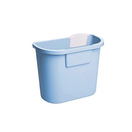 SPLAN Hänge-Mülleimer, groß, klein, Garraum 8l, Geeignet for Küche, Bad (grün, rosa, grau, blau) (Farbe : G)