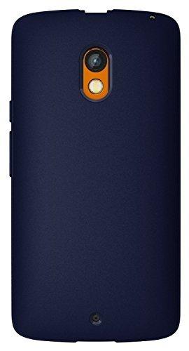 Diztronic PLY-FM-BLUE Custodia Completa Opaca Soft Touch Flessibile TPU per Motorola Moto X Play/2015, Azzurro Blu
