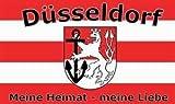 Düsseldorf Meine Heimat meine Liebe Fussball Fahne Flagge Grösse 1,50x0,90m - FRIP –Versand®