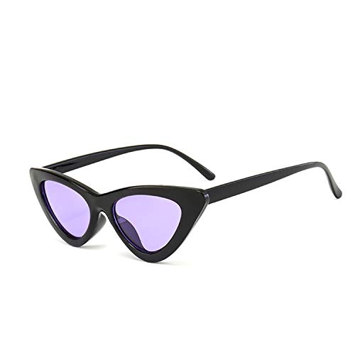 Daawqee Prämie Sonnenbrillen,Brillen,NEW Fashion Cute Sexy Ladies Cat Eye Sunglasses Women Vintage Brand Small Sun Glasses Female Oculos De Sol UV400 Black Purple