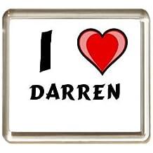 """Iman de nevera con estampado """"Te quiero"""" Darren (nombre de pila/apellido/apodo)"""