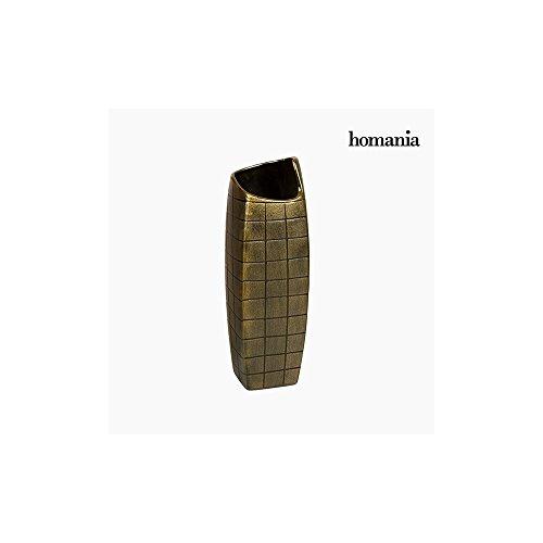 Vase Céramique Or (13 x 13 x 41 cm) by Homania