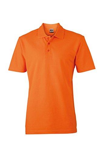 JAMES & NICHOLSON Klassisches Polohemd in Piqué-Qualität Orange