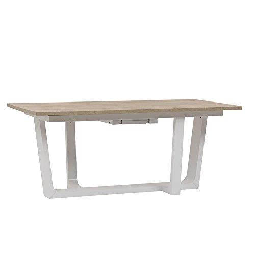 Tuoni roller tavolo, legno/legno laccato, rovere/bianco