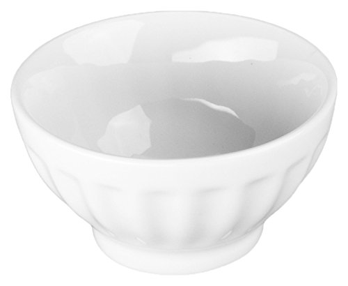 BIA Cordon Bleu 4.5-Ounce Fluted Bowl, Set of 4, White Fluted Bowl