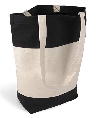 93b92f69e6b6c stylische geräumige Tragetasche Baumwolltasche Stofftasche Shopper  Handtasche mit großem Boden 1 Tas