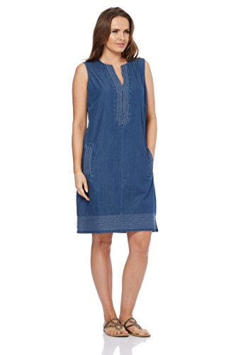Roman Originals Damen Jeans-Shiftkleid Denim - Denim - Größe 48