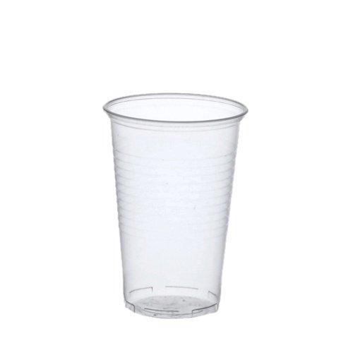 Trinkbecher, PP 0,4 l Ø 9,5 cm 12,2 cm transparent mit Schaumrand. EinwegTrinkbecher, PP. Menge: 1600 St